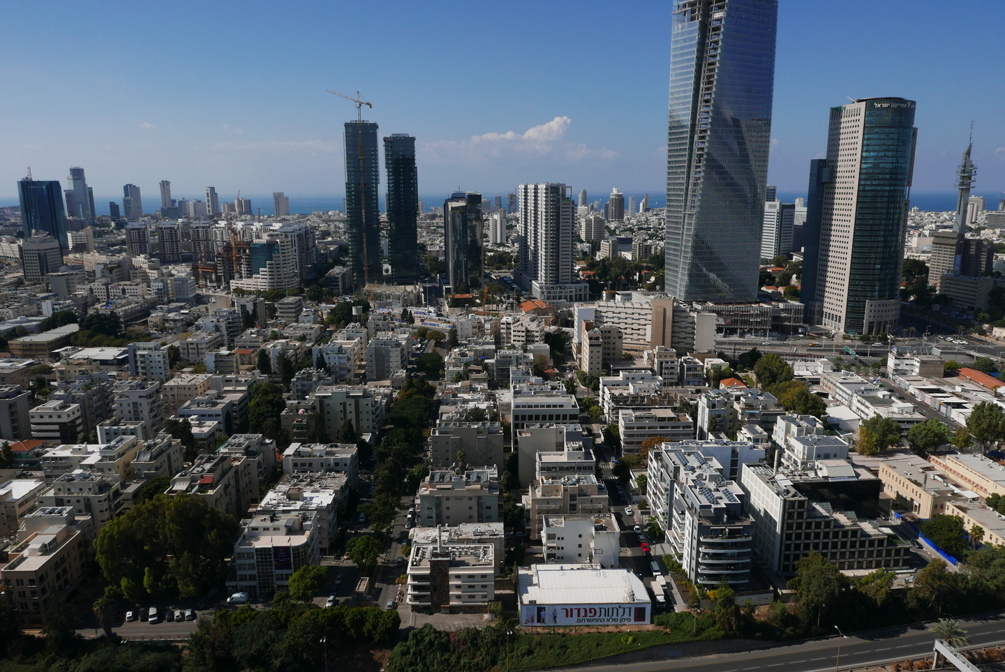 View from the Tel Aviv office of Google